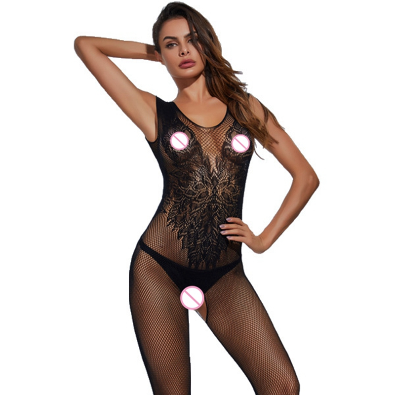 Hot Woman Teddies <font><b>Sex</b></font> Body Stocking Novelty & Special Use Exotic Apparel Vest Sexy Lingeries Angle Wings Pattern Latex <font><b>Catsuit</b></font> image