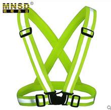 2016 New Safety Clothing Cheap Chaleco Reflectante Reflective 3M Fabric Material Strip Tap Band Vest & Jacket Green Color SJQ340