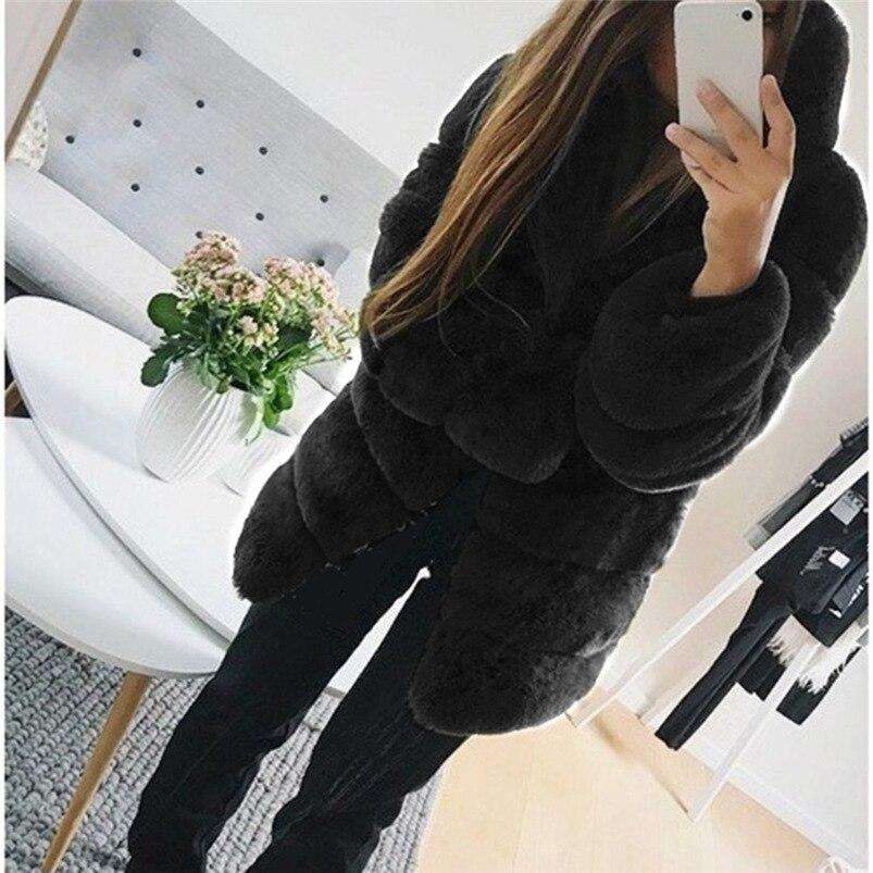 Zipper Winter Coat Women 2018 Sleeveless Fur Cashmere Hoodie Coat Girl Warm Pullover Thick Coat femenino #N28 (4)