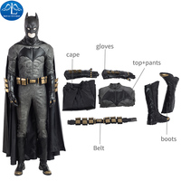 ManLuYunXiao Newest Justice League Cosplay Costume Batman Cosplay Costume For Halloween Men Full Set Custom Made High Quality
