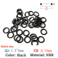 CS 0 75mm Rubber O Ring Washer Seals Plastic gasket Silicone ring film oil and water