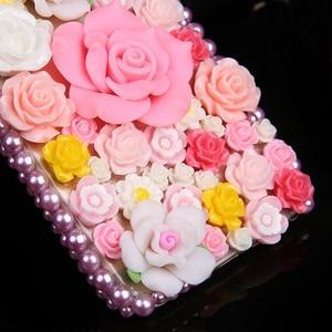 Image 5 - 럭셔리 DIY 다이아몬드 3D 핑크 장미 꽃 블링 케이스 아이폰 12 미니 11 프로 맥스 XS 맥스 XR X 6s 6 8 7 플러스 5 5s SE 2020 Fundas