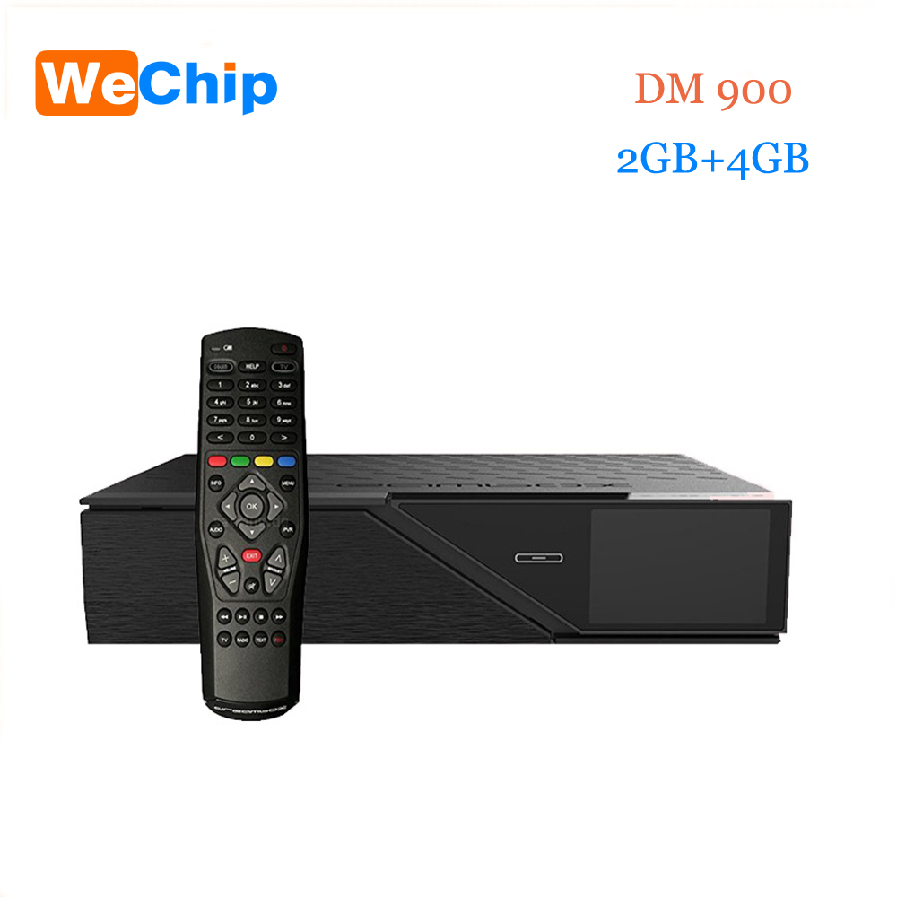 Wechip Date Modèle dm900hd 4 k E2 DVB-S2/C/T2 Tuner dm 900 UHD 4 GB Flash 2 GB RAM 2160 p PVR Linux TV Récepteur dm900 hd pk dm800