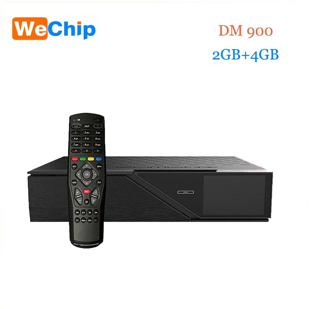 Wechip Date Modèle dm900hd 4 k E2 DVB-S2/C/T2 Tuner dm 900 UHD 4 GB Flash 2 GB RAM 2160 p PVR Linux TV Récepteur dm900 hd pk dm800