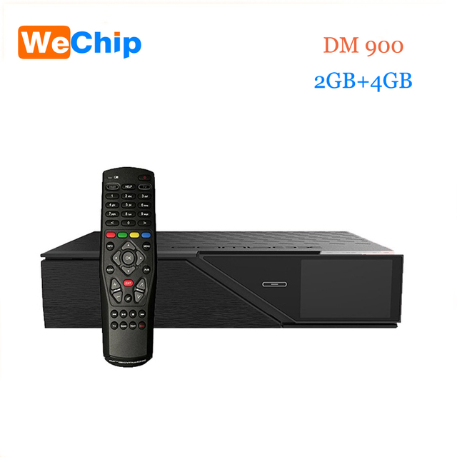 Wechip Newest Model dm900hd 4k E2 DVB-S2/C/T2 Tuner dm 900 UHD 4GB Flash 2GB RAM 2160p PVR Linux TV Receiver dm900 hd pk dm800