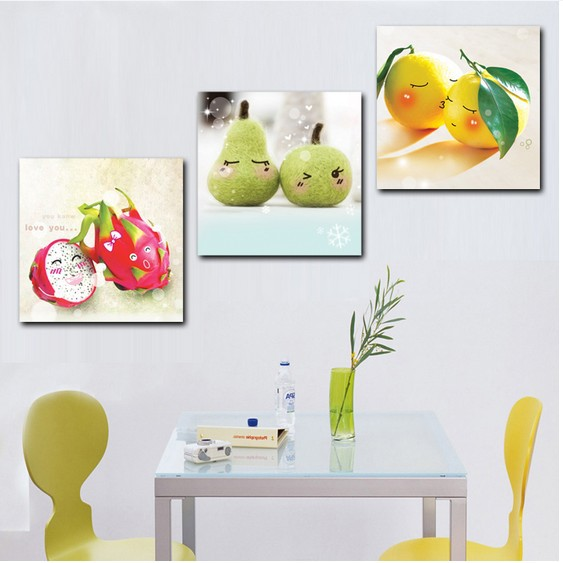 Happy Fruit 3 Hot Sell Modern Kitchen Wall Painting Home Decorative