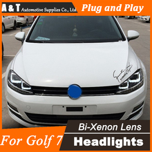 TLZ Car Styling LED for VW Golf7 Headlights Golf 7 MK7 LED Headlight DRL Lens Double Beam H7 HID Xenon Car LED Light