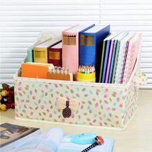 Bowknot Design Non-woven Fabrics Desktop Storage Box Book Magazine Student Bookcase Storage Basket Home Decor Cloth art crafts