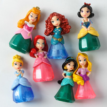 NEW Arrivals 7pcs/set Min Princess PVC Toy Cinderella Snow White Repunzel Action Figure Collectible Model Dolls For Kids Gifts