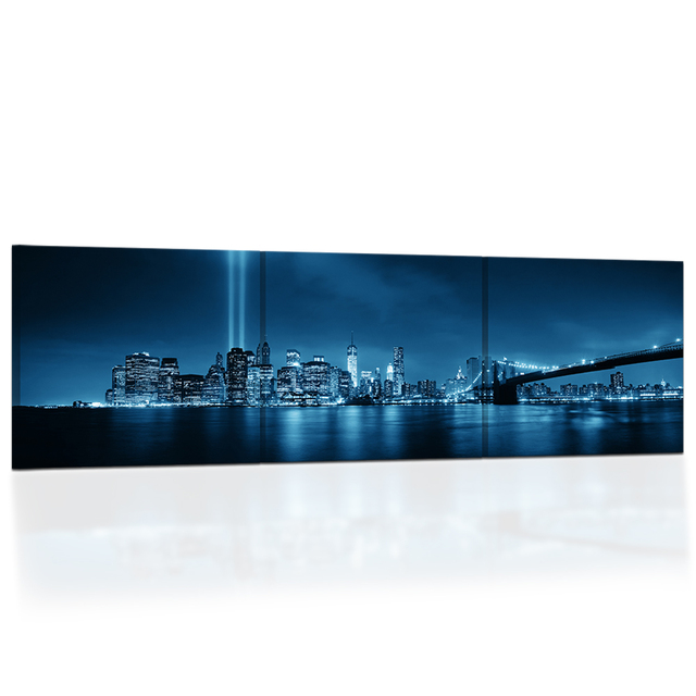 hd printed brooklyn bridge panorama canvas painting prints new york