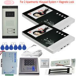 4,3 ''видео телефон двери 2 Мониторы с Электронный магнитный замок внутренняя Проводная связь для частный дом управление доступом питание