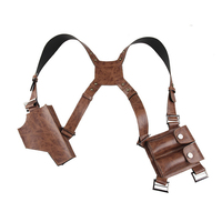Uncharted 4 A Thief's End Nathan Drake Holster Cosplay Leather Armor Revolver Prop Gun Shoulder Holster Straps Props Halloween