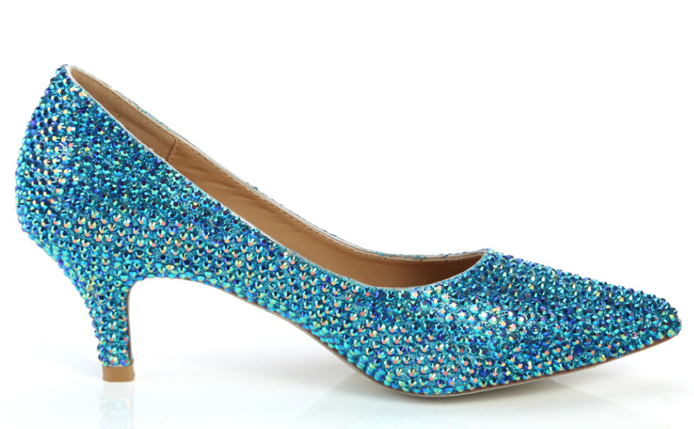 Elegant Blue Bridal Shoes