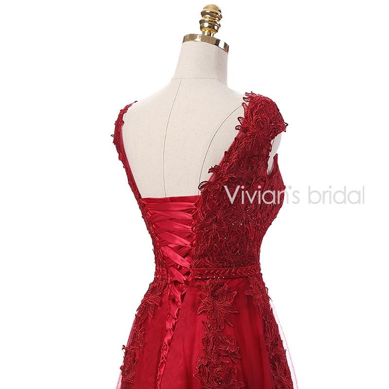 Vivian's Bridal Burgundy Sexy Kjole Kjole Lang 2016 Couture Formell - Spesielle anledninger kjoler - Bilde 6