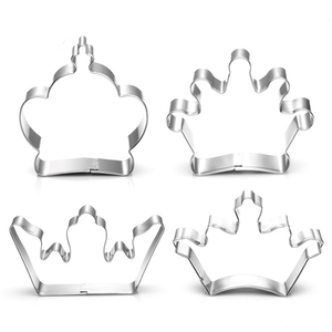 4 Styles Crown Cookie Cutter Stainless Steel Crown Mold King Prince Queen Princess Crown Cake Decoration Tool H918(China)