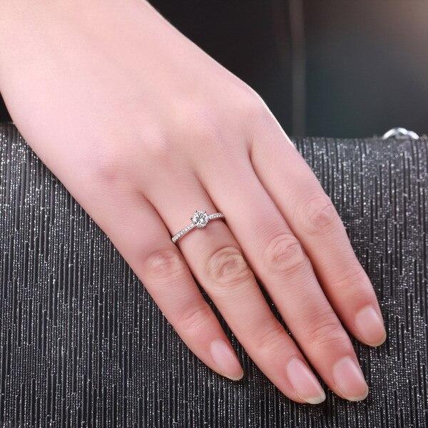 0.4 CT I J/SI Classic Six Claw Diamond Rings For Woman GVBORI ...