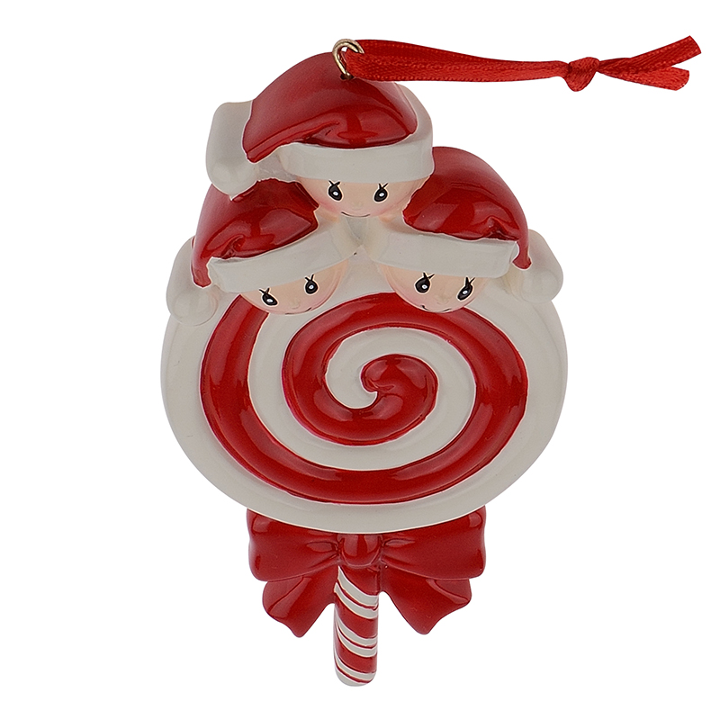 Lollipop Familia de 3 Resina Bebé Brillante Adornos para Árboles de - Para fiestas y celebraciones - foto 5