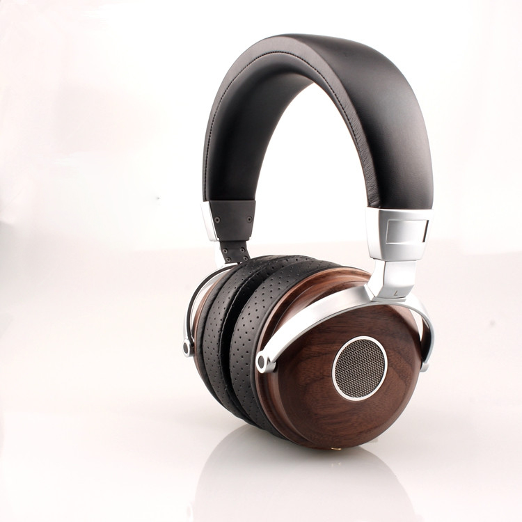 Original HBR Comfortable HIFI Bass Super Stereo Adjustable Wooden Headphones Stereo Beryllium Alloy Driver Headset Earphone