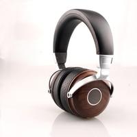 Original HBR Comfortable HIFI Bass Super Stereo Adjustable Wooden Headphones Stereo Beryllium Alloy Driver Headset Earphone
