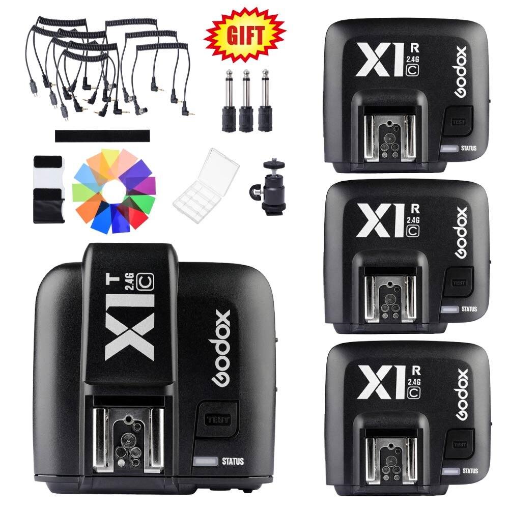 Godox X1T-C 2.4G TTL Wireless Transmitter Trigger X1R-C Receiver For Canon Flash