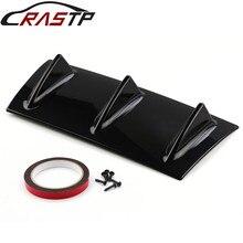 RASTP-ABS Plastic Universal Rear Bumper Lip Chassis Diffuser Spoiler 3 Fin Shark Style RS-LKT025S