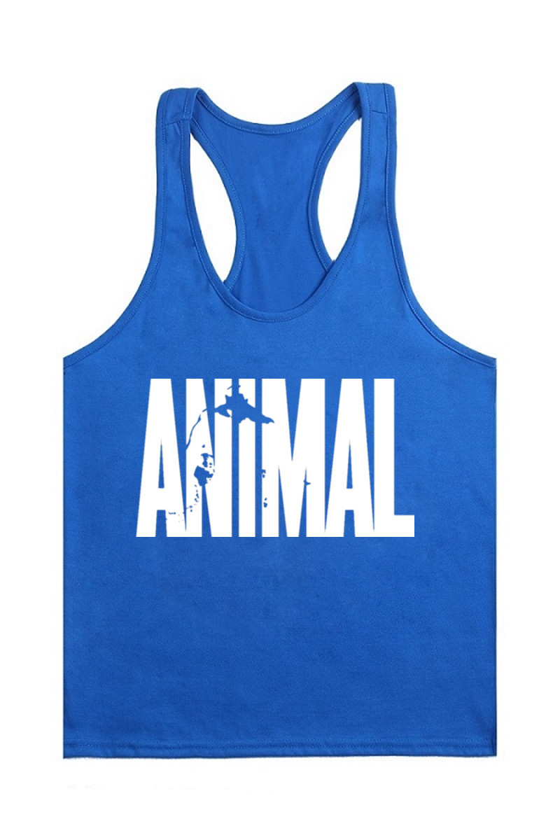 2016 New Printing Letter Animal Stringer   Tank     Top   Men Bodybuilding Equipment Clothing and Fitness Shirt Vest Singlets Muscle   Top