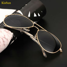 Sunglasses Women Brand Desinger Aviator 2017 Polarized Retro Sunglasses Female Aviador Polarized Glass With KisSun Logo and Box