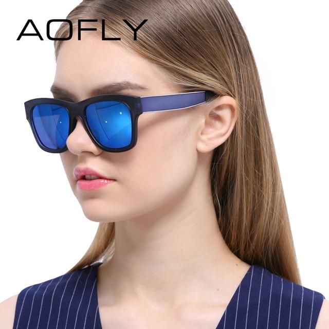 AOFLY New Arrival Sunglasses Women Coating Mirror Sunglasses Unisex Sun glasses Square Style Brand Designer Goggles Eyewear