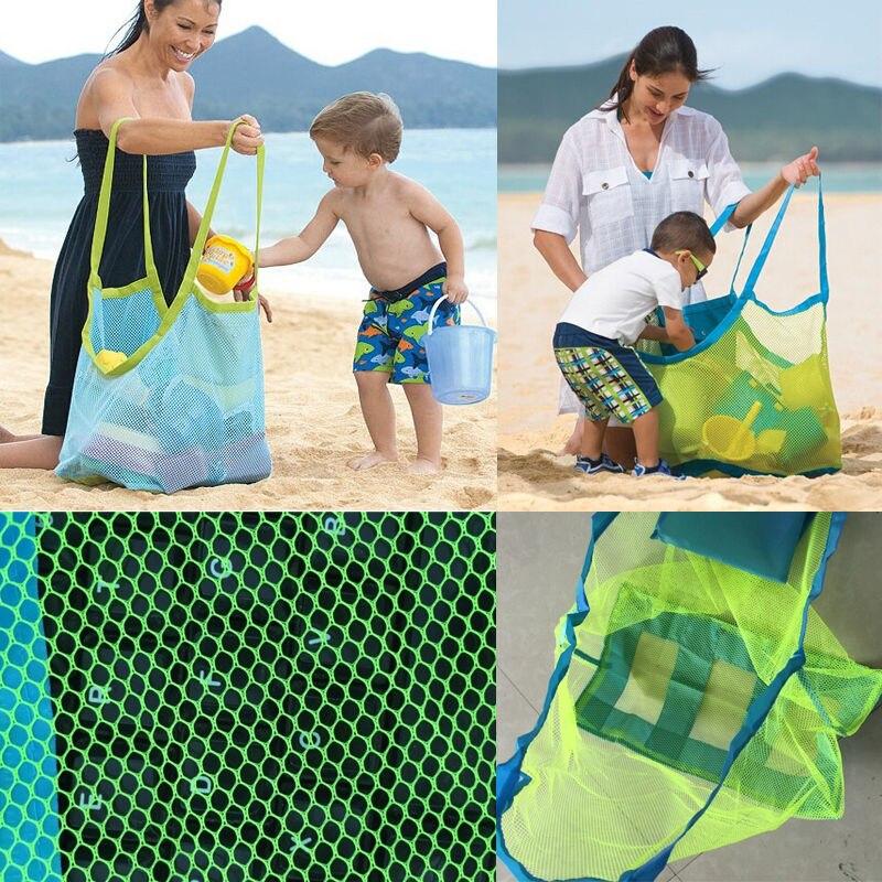 Mode Familie Reise Totes Mesh Kinder Sandstrand Entfernt Taschen Sea Shell Reisetaschen Kinder Strand Spielzeug Baby Um Zu Helfen, Fettiges Essen Zu Verdauen