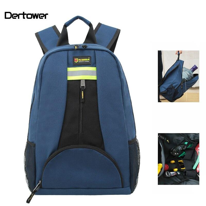 Multitul Backpack Shoulder Toolkit Thickened Waterproof Wear resistant Oxford Cloth Electrician Repair Tool Bag High capacity