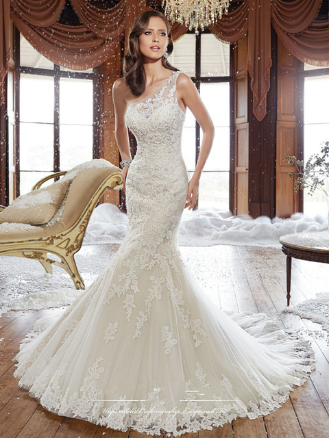 Distinctive Fit Flare Bridal Gown Back Corset Floor length One ...