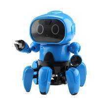 Smart Induction 6CH Electric 6-Legged RC Robot Intelligent Programming Gesture Sensor Obstacle Avoidance Remote Control Toys(China)
