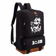 حقيبة ظهر WISHOT JoJo للمغامرة الغريبة حقيبة كتف للسفر حقيبة مدرسية حقيبة كتب للمراهقين حقيبة كمبيوتر محمول غير رسمية لومينو
