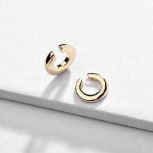 Neue Punk Gold Legierung Ohr Clip Ohrringe für Frauen Mädchen Einfache Charme Kreis Ohr manschette Partei Schmuck Zubehör Großhandel