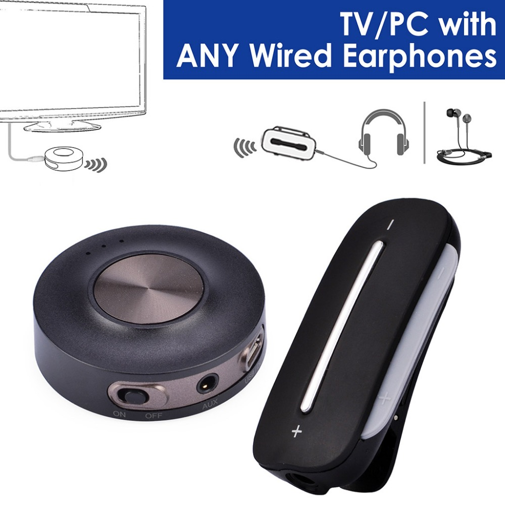 Avantree aptX Low Latency Wireless TV SET - Bluetooth Transmitter and Receiver, PLUG & PLAY, Bluetooth for Wired HeadphonesAvantree aptX Low Latency Wireless TV SET - Bluetooth Transmitter and Receiver, PLUG & PLAY, Bluetooth for Wired Headphones