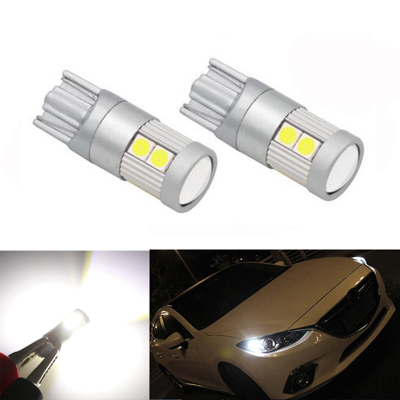2x T10 W5W Samsung Car LED Wedge Light For Lada Granta Vaz Kalina Priora Niva Samara 2 2110 Largus 2109 2107 <font><b>2106</b></font> 4x4 2114 2112 image