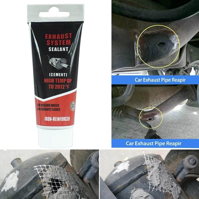 vehemo 75g paste high temperature sealant exhaust pipe sealant cars universal auto silencer exhaust pipe repair glue