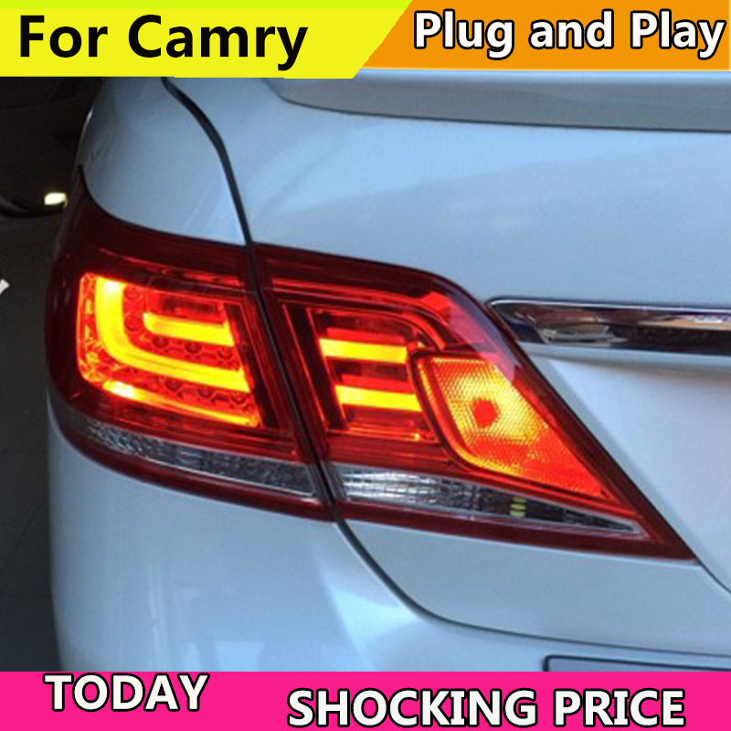 Car Styling for Toyota Camry Taillights 2006 - 2011 Camry LED Tail Light Aurion Rear Lamp DRL+Brake+Park+Signal 2pc 6000k led license plate lamp light for toyota camry for aurion lexus is200 rx300