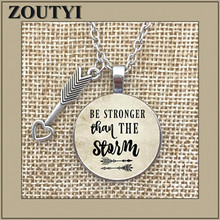 2018/ new alloy glass necklace is stronger than STORM pendant, inspiring charm necklace, gift for her, friend