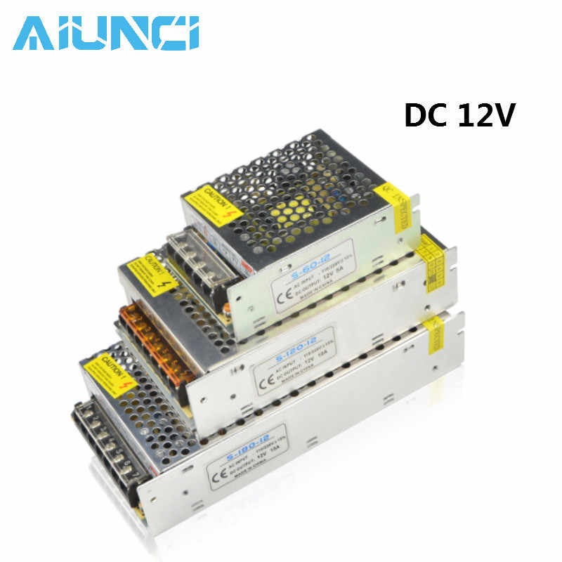 DC12V 5A 10A 15A 20A 30A lighting Transformers LED Driver Power Adapter For LED Strip light Switch Power Supply 60W 120W 240W