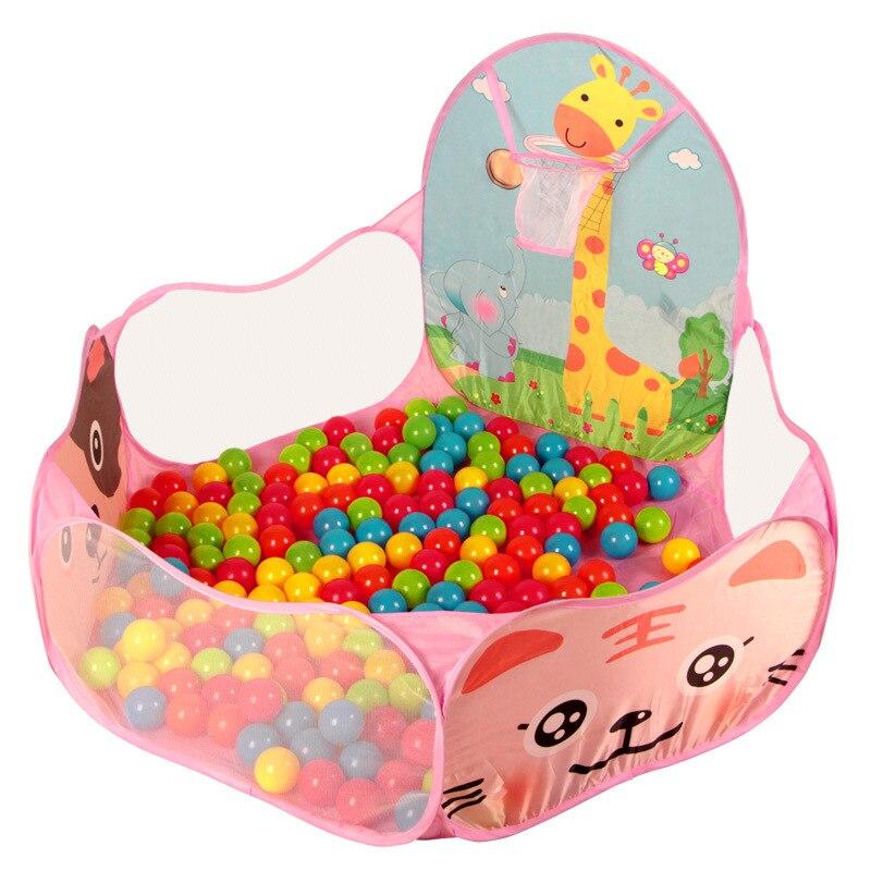1.2 м Детские манежи + 50 шт. 6 см шары для детский складной дети мяч открытый бассейн/игровой палатку деятельности игрушка фехтования pop up