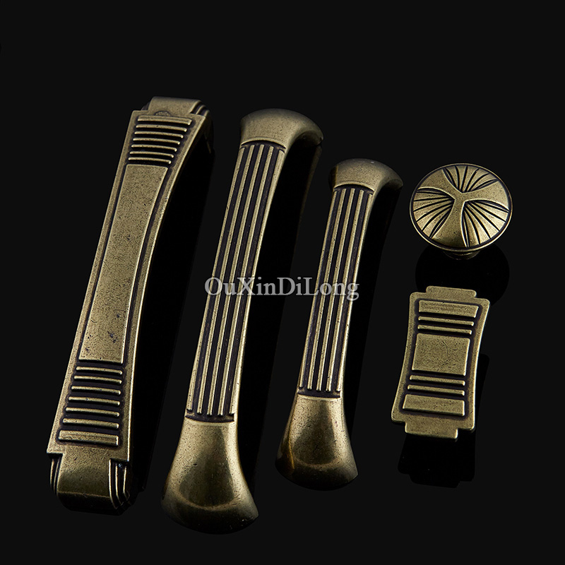 Retro 10PCS European Antique Kitchen Door Furniture Handles Cupboard Drawer Dresser Wardrobe Shoe Cabinet Pulls Handles & Knobs