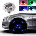 4 PCS 4 Modos de 12 LED Auto Car Styling de Flash de Energia Solar Aro do Pneu Da Roda de Luz Decoração Da Lâmpada brilhante Luz de Advertência Frete Grátis