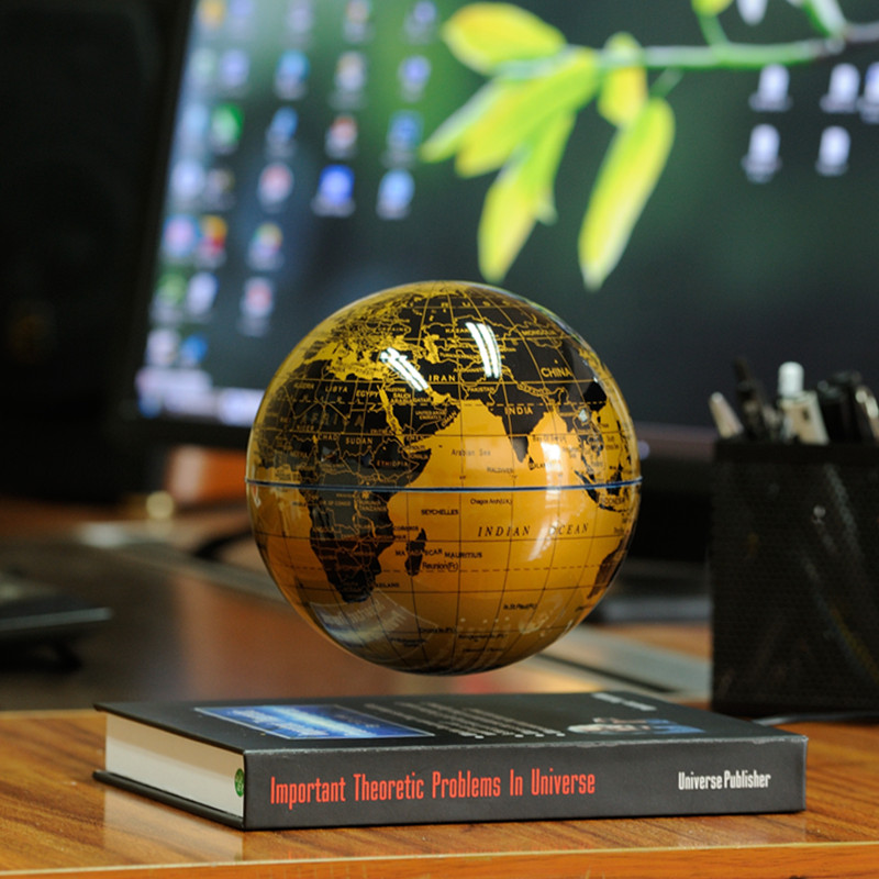 The book of magnetic rotation of the globe 6 inch 8 inch office desk ornaments crafts gifts