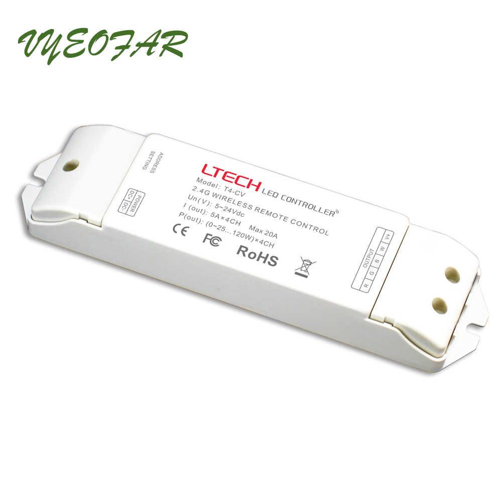 Nouveau contrôleur de bande Led RGBW 12V 24V 2.4GHz RF télécommande RF sans fil synchronisation/zone Led RGBW contrôleur de gradation de lumière de ruban de bande