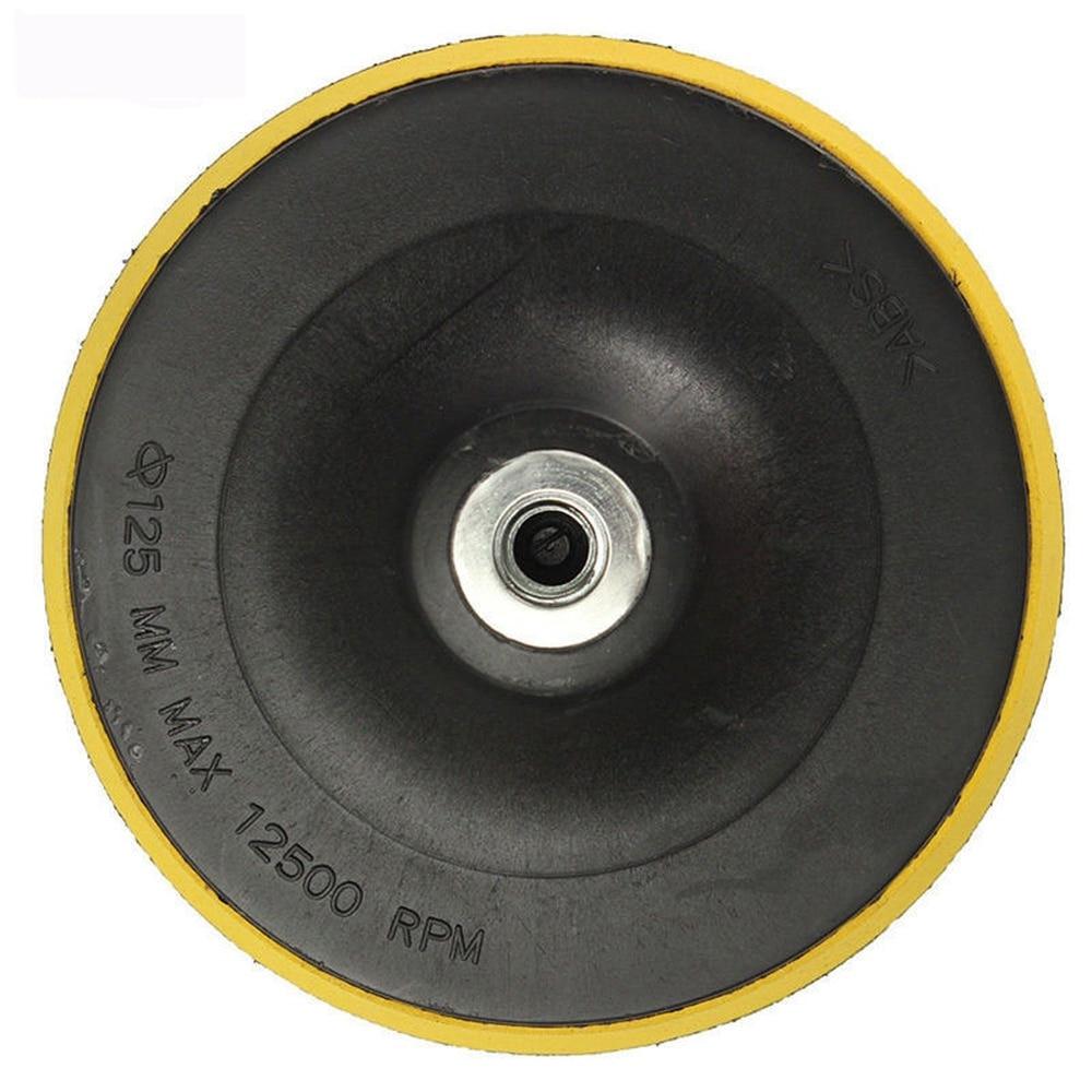 Mayitr M14 Backing Pad Car Polisher Bonnet Holder 3 4 5 6 7 inch Angle Grinder Wheel Sander Paper Disc Car Polishing Polisher zfe m14 converts polisher pad backing plate to 5 16 da polish thread for air sander