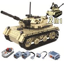 2 в 1 RC Военный танк, совместимая с Legoing Technic модель, строительные блоки, 759 деталей, кирпичи, подарок на день рождения для мальчика, игрушки на дистанционном управлении