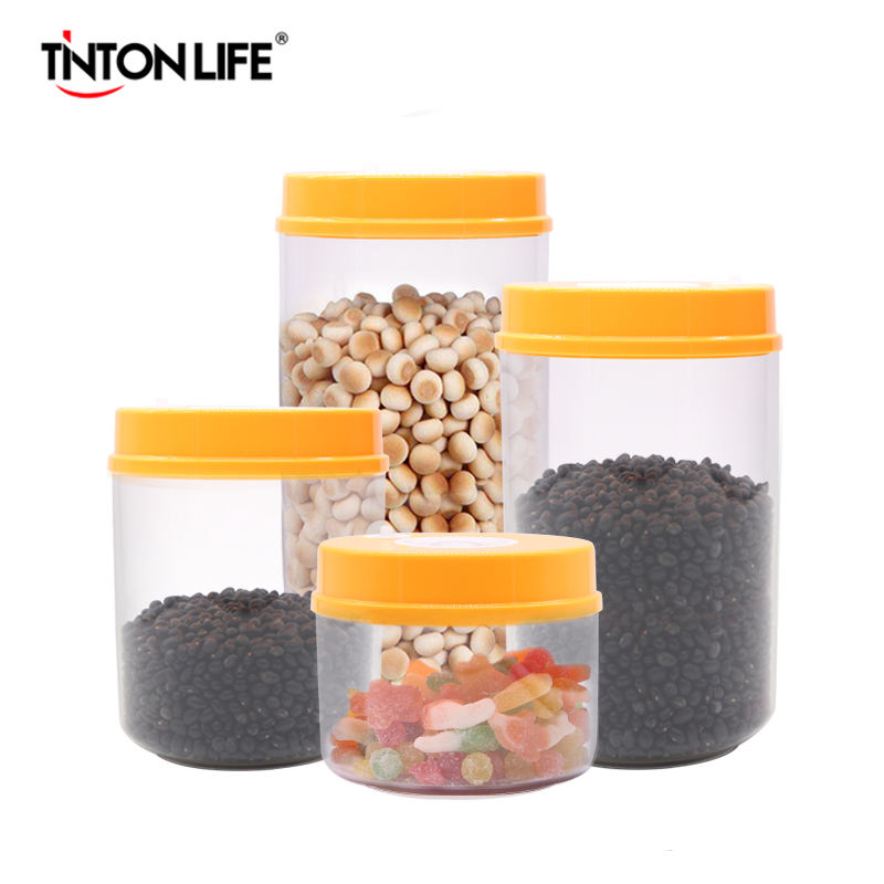 TINTON LIFE Kitchen Food Vacuum Containers Sets Vacuum Sealer Machine Fresh Keeping Canister ( 2200ML+1600ML+1000ML+700ML ) lagute vacuum sealer saver bags rolls fresh keeping for kitchen food storage all sizes 8 x 16 11 x 16 8 x 50 11 x 50