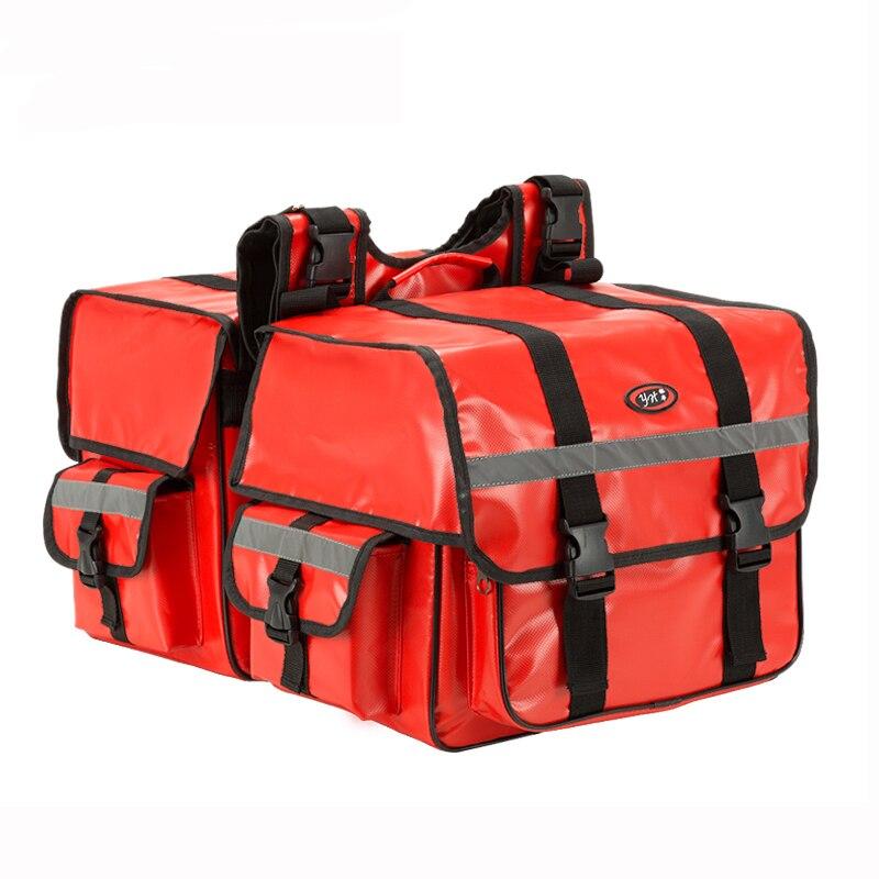 One Pair Motorcycle saddle bags Waterproof Plus size 70L moto tank bag luggage case motorcycle side bags saddlebag