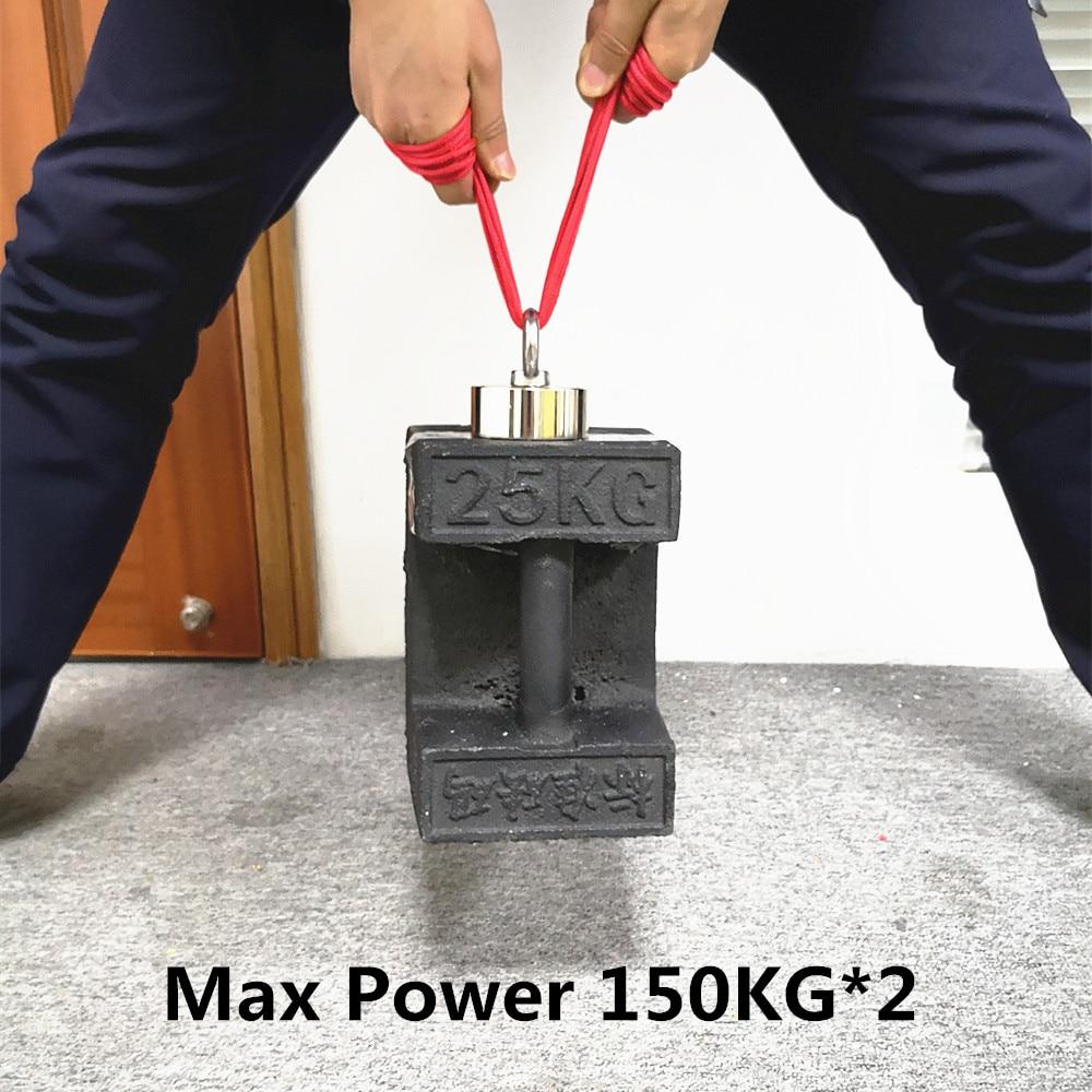 Сильный неодимовый магнит двухсторонний поисковый магнит крюк D48-D74* 28 мм супер мощный спасательный рыболовный Магнитный подстаканник